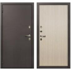 Входная металлическая дверь Лекс 1А Медный Антик (№1 Беленый дуб)