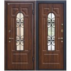 Входная металлическая дверь Юркас М-30 (Темный орех)