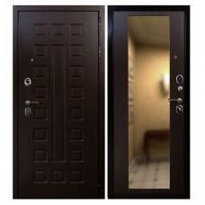 Входная стальная дверь Армада Сенатор СБ-16 с зеркалом (венге)