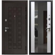 Входная стальная дверь Армада Сенатор СБ-16 с зеркалом (лиственница белая)