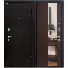 Входная металлическая дверь Юркас М15 с зеркалом (Венге кроскут)