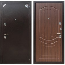 Входная металлическая дверь Зетта Евро 2 Б2 Венеция (Орех тиснённый)