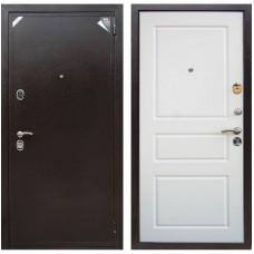 Входная металлическая дверь Зетта Евро 2 Б2 Система (Эмаль белая матовая)