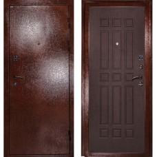 Входная металлическая дверь Дива МД-04 (Антик медь/венге)