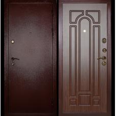 Входная металлическая дверь Дива МД-04 (Антик медь/орех тисненый)