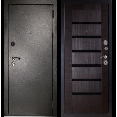 Входная металлическая дверь Дива МД-05 (Антик серебро/орех темный)