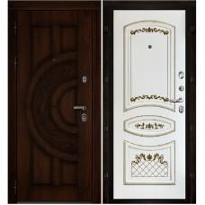 Входная металлическая дверь Атлант Алина 2 (Дуб/Эмаль белая)