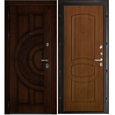 Входная металлическая дверь Атлант Анастасия (Дуб/Орех)
