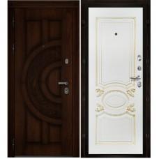 Входная металлическая дверь Атлант аристократ (Дуб/Белая эмаль)