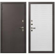 Входная металлическая дверь Лекс 1А Медный Антик (№36 Белый ясень)