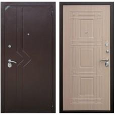 Входная металлическая дверь Зетта Комфорт 2 Д1 Бастион (Венге белёный)