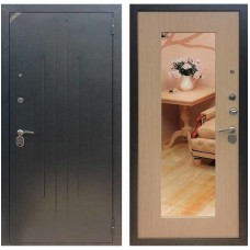 Входная металлическая дверь Зетта Комфорт 2 Д1 с зеркалом (Венге белёный)