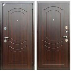 Входная металлическая дверь Зетта Комфорт 3 Д1 Венеция (Орех тёмный)