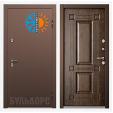 Входная металлическая дверь Бульдорс Термо ТВ 2 (Грецкий орех)