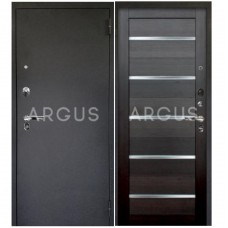 Входная металлическая дверь Аргус 1_Люкс Про Александра вельвет/Черный шелк