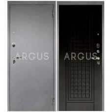 Входная металлическая дверь Аргус 1_Люкс Про Альма венге тисненый/Серебро антик
