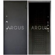 Входная металлическая дверь Аргус 1_Люкс Про Альма венге тисненый/Черный шелк