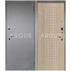 Входная металлическая дверь Аргус 1_Люкс Про Альма капучино/Серебро антик