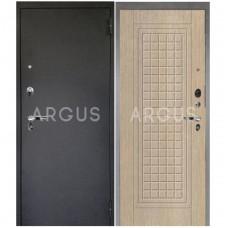 Входная металлическая дверь Аргус 1_Люкс Про Альма капучино/Черный шелк