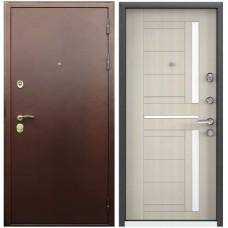 Входная металлическая дверь Голиаф Персей (Антик медь/беленый дуб)
