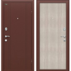 Входная металлическая дверь Браво Оптим door out 201 (Сappuccino Veralinga)