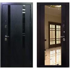 Входная металлическая дверь Персона Гранд-1 (Венге) с зеркалом