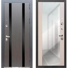 Входная металлическая дверь Персона Гранд-1 (Сандал белый) с зеркалом