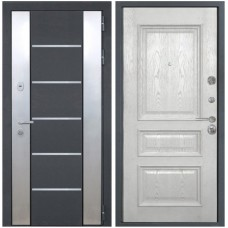 Входная металлическая дверь Интекрон Вельс Валентия 2 (Жемчужный ясень)