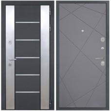 Входная металлическая дверь Интекрон Вельс Лучи-М (Софт графит)