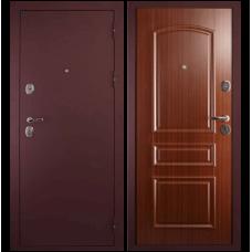Входная металлическая дверь Сударь 3 (Брусничный бархат/орех тисненый)