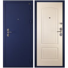 Входная металлическая дверь Сударь 4 (Синий бархат/белый шелк)