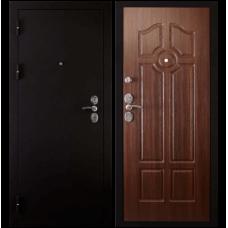Входная металлическая дверь Сударь 4 (Черный бархат/орех бренди)