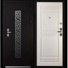 Входная металлическая дверь Сударь 7 (Черный бархат/ясень белый)