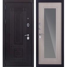 Входная металлическая дверь Италия 3К с зеркалом Дуб беленый