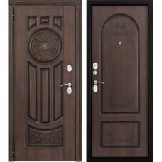 Входная металлическая дверь Лео-2 (голден патина винорит)