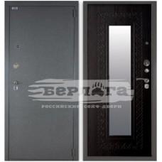 Входная Металлическая Дверь Берлога 3К Викинг (венге) с зеркалом