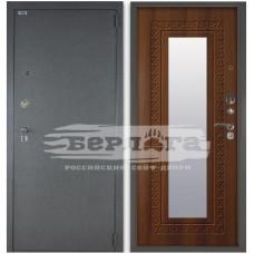 Входная Металлическая Дверь Берлога 3К Викинг (рустикальный дуб) с зеркалом