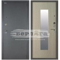 Входная Металлическая Дверь Берлога 3К Викинг (светлый ларче) с зеркалом