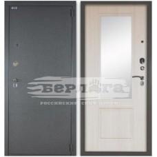 Входная Металлическая Дверь Берлога 3К Гала (светлый ларче) с зеркалом