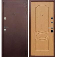 Входная металлическая дверь Голиаф Персей (Антик медь/дуб натуральный)