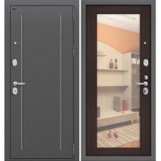 Входная металлическая дверь Groff Т2-220 с зеркалом (Венге Вералинга)