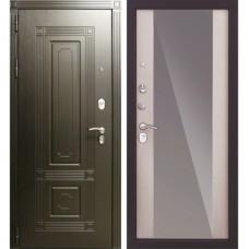 Входная металлическая дверь Страж Италия 3К с зеркалом Беленый дуб