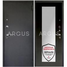 Входная металлическая дверь Аргус 1_Люкс Про Милли венге/Чёрный шёлк