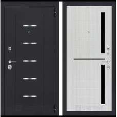 Входная металлическая дверь Лабиринт ALFA 02 (Сандал белый)