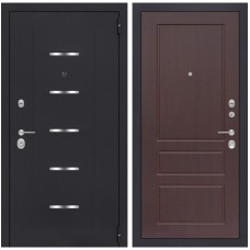 Входная металлическая дверь Лабиринт ALFA 03 (Орех премиум)