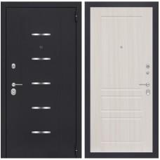 Входная металлическая дверь Лабиринт ALFA 03 (Сандал белый)