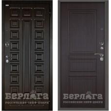 Входная Металлическая Дверь Берлога Оптима 2П Сенатор (венге/Гаральд венге)