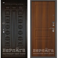 Входная Металлическая Дверь Берлога Оптима 2П Сенатор (венге/Гаральд дуб рустикальный)