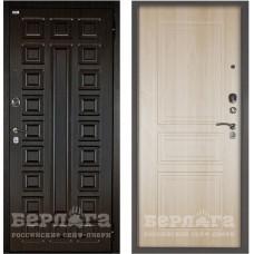 Входная Металлическая Дверь Берлога Оптима 2П Сенатор (венге/Гаральд ларче светлый)