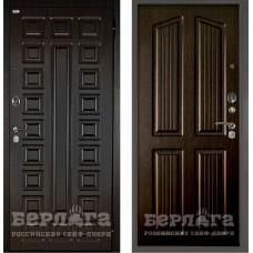 Входная Металлическая Дверь Берлога Оптима 2П Сенатор (венге/Лондон венге)